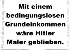 Mit einem BGE wäre Hitler