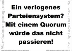Ein verlogenes Parteiensystem