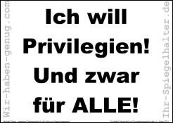 Ich will Privilegien