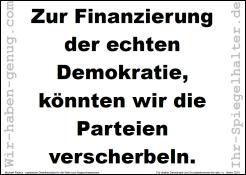 Zur Finanzierung der echten Demokratie