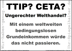 TTIP CETA Ungerechter Welthandel