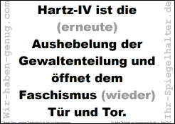 Hartz-IV ist die Aushebelung der Gewaltenteilung