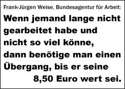 Übergang bis 8.50 Euro wert
